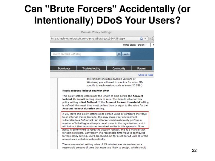 """Can """"Brute Forcers"""" Accidentally (or Intentionally) DDoS Your Users?"""