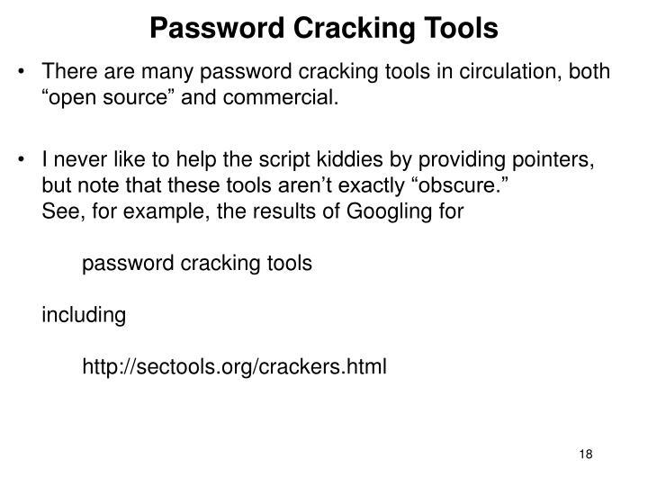 Password Cracking Tools