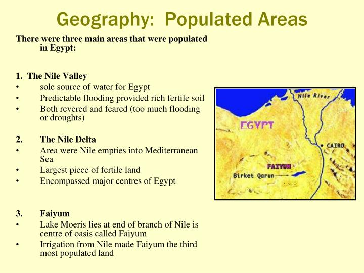 Geography:  Populated Areas