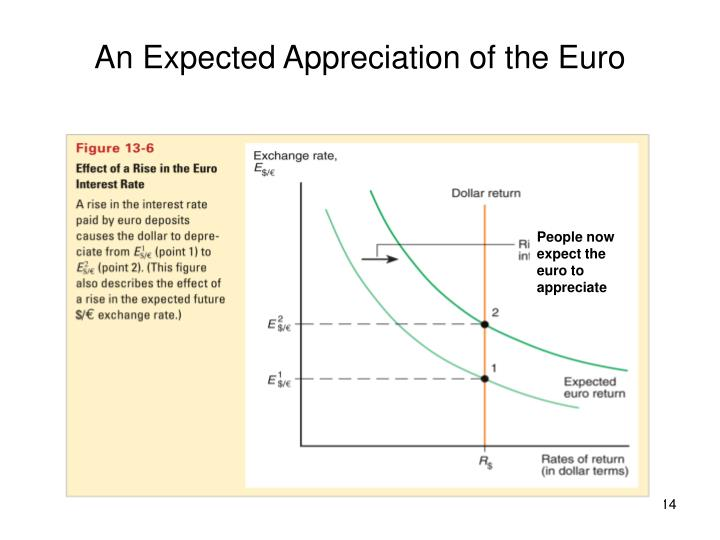 An Expected Appreciation of the Euro
