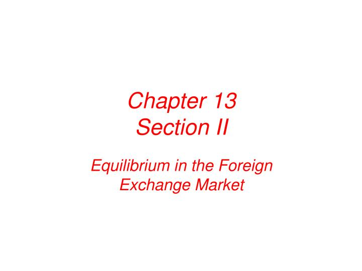 Chapter 13 section ii