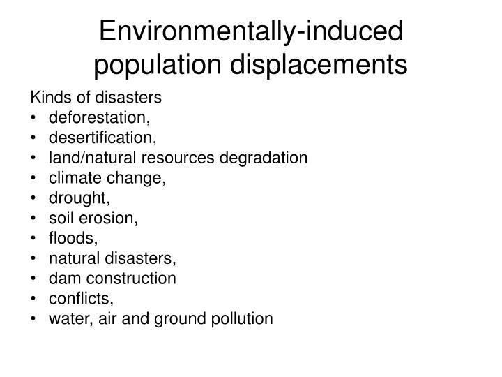 Environmentally-induced population displacements