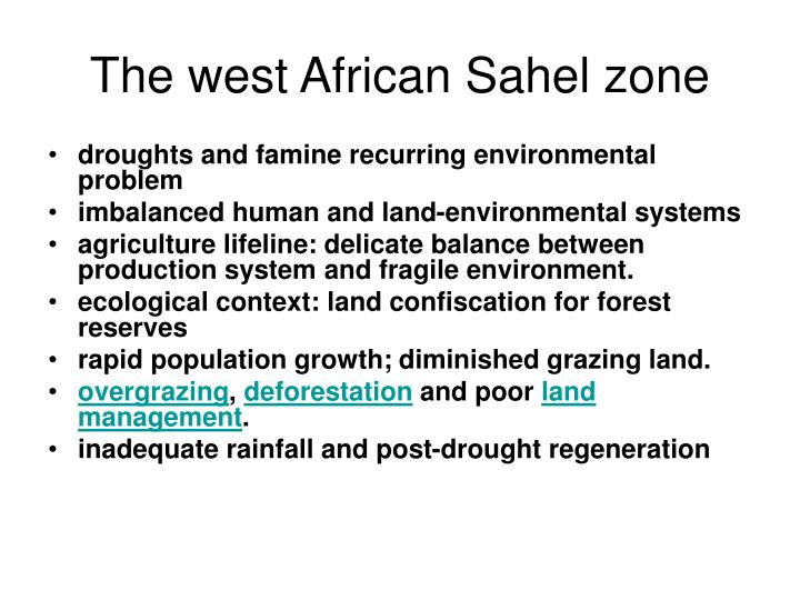 The west African Sahel zone