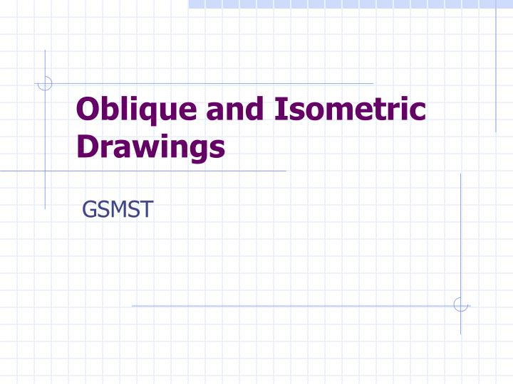 oblique and isometric drawings n.