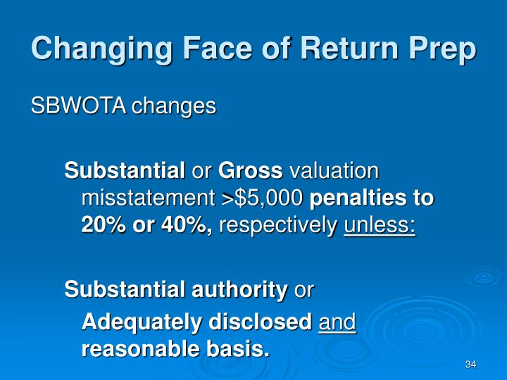 Changing Face of Return Prep