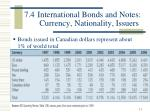 7 4 international bonds and notes currency nationality issuers