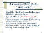 international bond market credit ratings