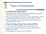types of instruments