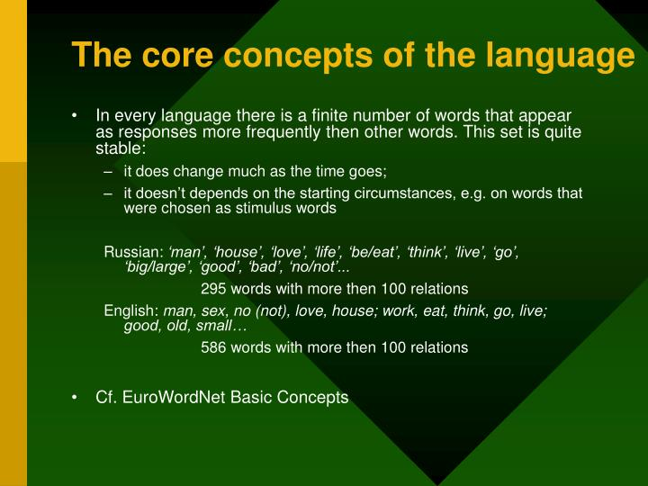 The core concepts of the language