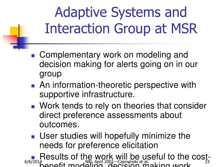 Adaptive Systems and Interaction Group at MSR