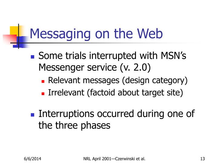 Messaging on the Web