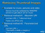 retrieving thumbnail images