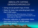 absolute dating dendrochronolgy