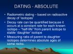 dating absolute
