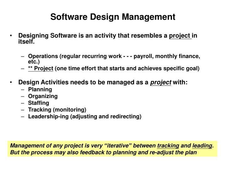 Software Design Management