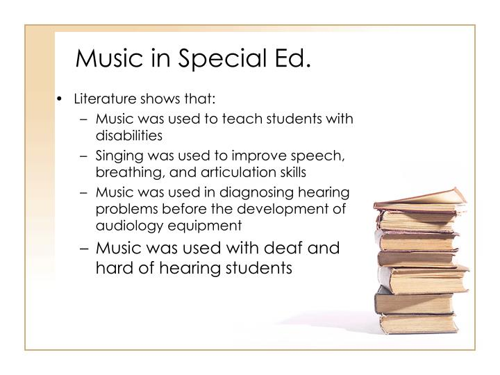 Music in Special Ed.