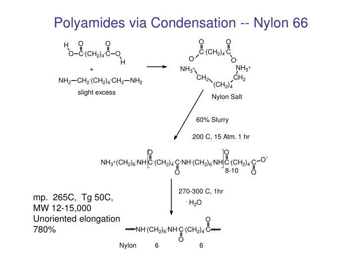 Polyamides via Condensation -- Nylon 66