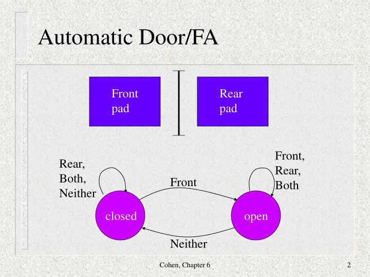 Automatic door fa