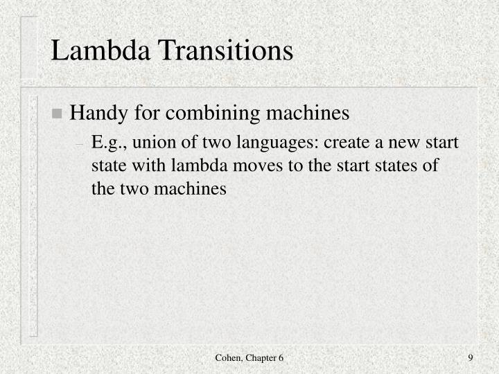 Lambda Transitions