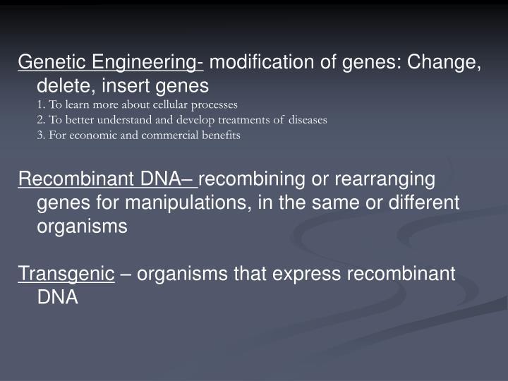 Genetic Engineering-