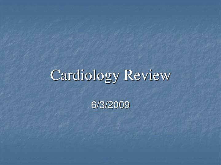 cardiology review n.