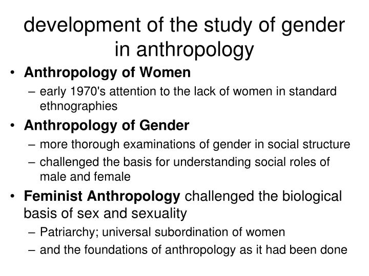 development of the study of gender in anthropology
