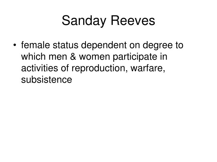 Sanday Reeves