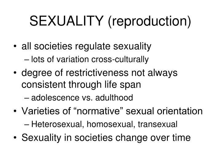 SEXUALITY (reproduction)