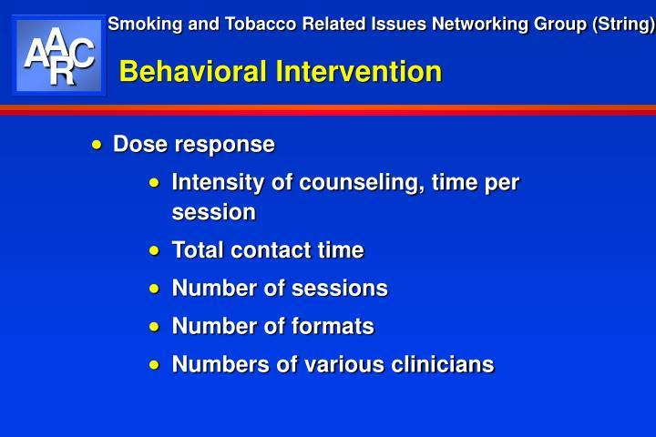 Behavioral Intervention