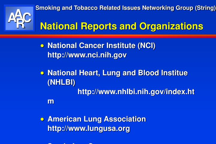 National Reports and Organizations