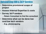 outsourcing edd 3d p service