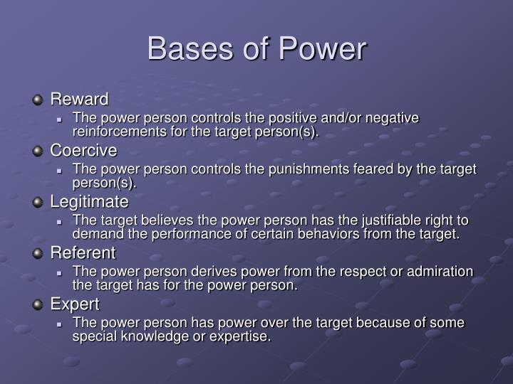 Bases of Power
