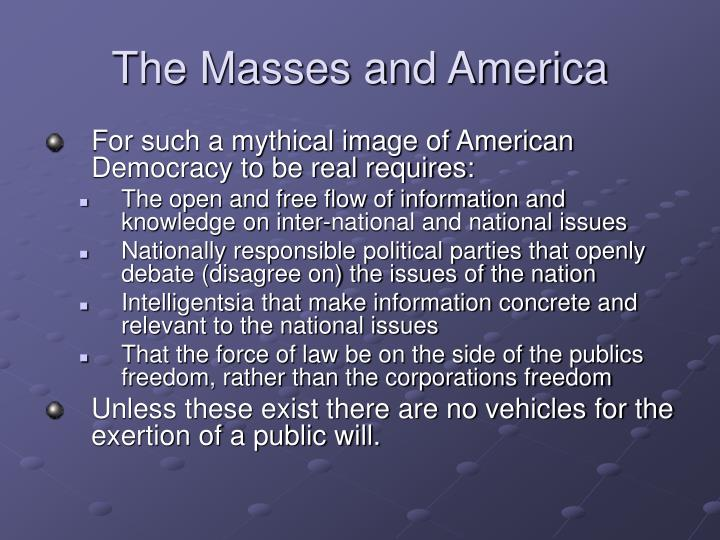 The Masses and America