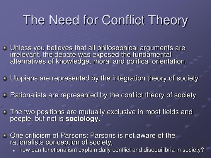 The Need for Conflict Theory