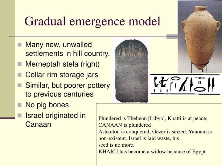 Gradual emergence model