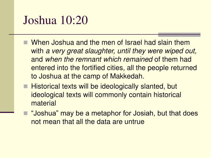 Joshua 10:20