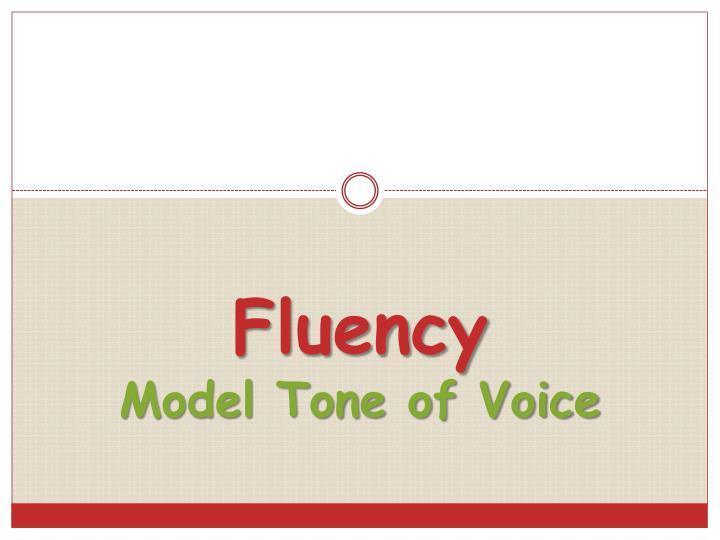 Fluency