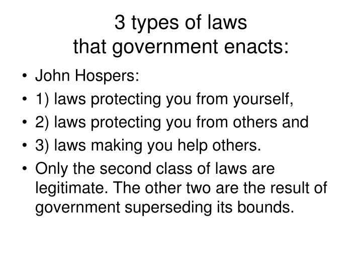 3 types of laws