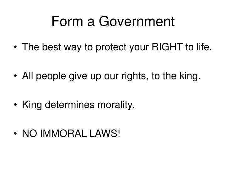 Form a Government