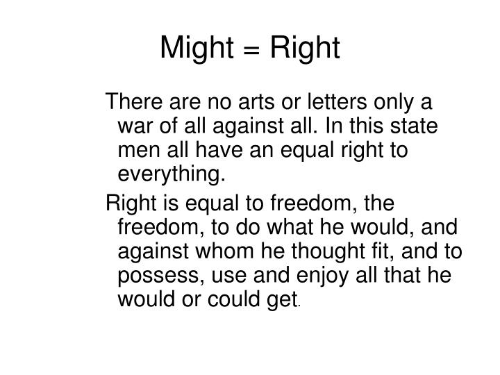 Might = Right