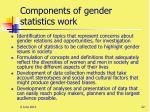 components of gender statistics work