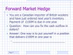 forward market hedge1