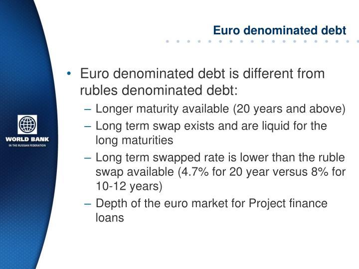 Euro denominated debt