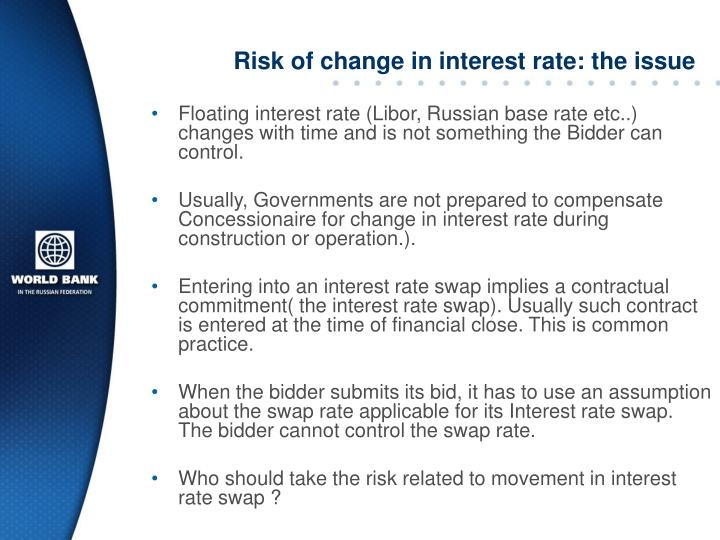 Risk of change in interest rate: the issue