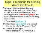 bugs r functions for running winbugs from r