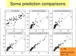 some prediction comparisons