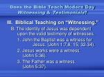 does the bible teach modern day witnessing testimonials3