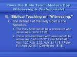 does the bible teach modern day witnessing testimonials4