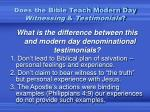 does the bible teach modern day witnessing testimonials8