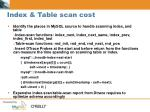index table scan cost